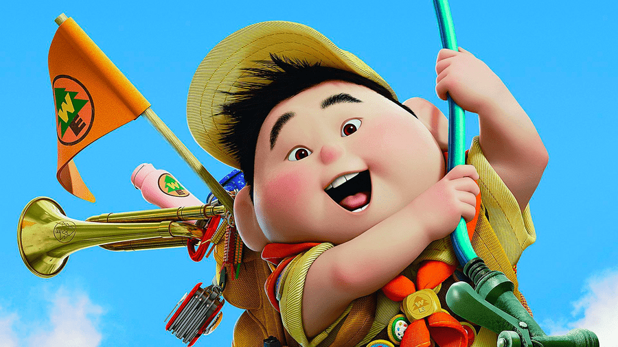 image showing a boy scout from movie up